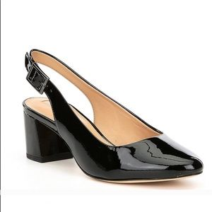 Antonio Melani Patent Leather Slingbacks